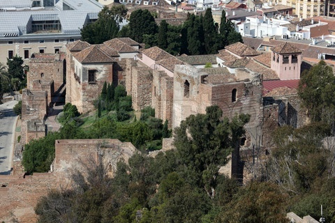 'Old moorish fortress La Alcazaba in Malaga, Spain