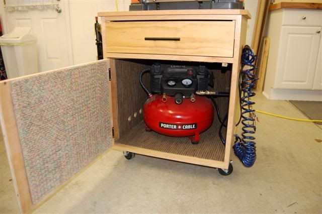 Evolution of a Shop #9: Sound dampened air compressor cart