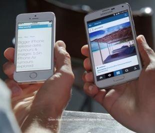 Samsung se burla de la pantalla del iPhone 6 y le dice a Apple: yo la tengo más grande