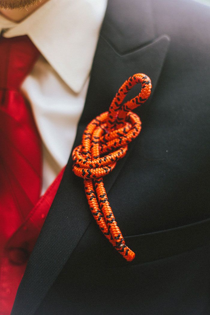 Anne and Tony's 50 Guest Red River Gorge Retreat Wedding Photography by Cassie Lopez. See more... @intimateweddings.com #boutonnieres