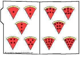 Preschool Printables : File Folder / Pizza Number Party