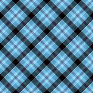 108 Free Plaid Seamless Patterns: SKS Plaid 78 - Light Blue & Black Tartan