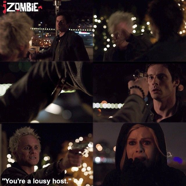 """Why is Bradley James always dying in the shows I fall in love with?  #iZombie 1x09 """"Patriot Games"""" - Blaine, Lowell and Liv"""