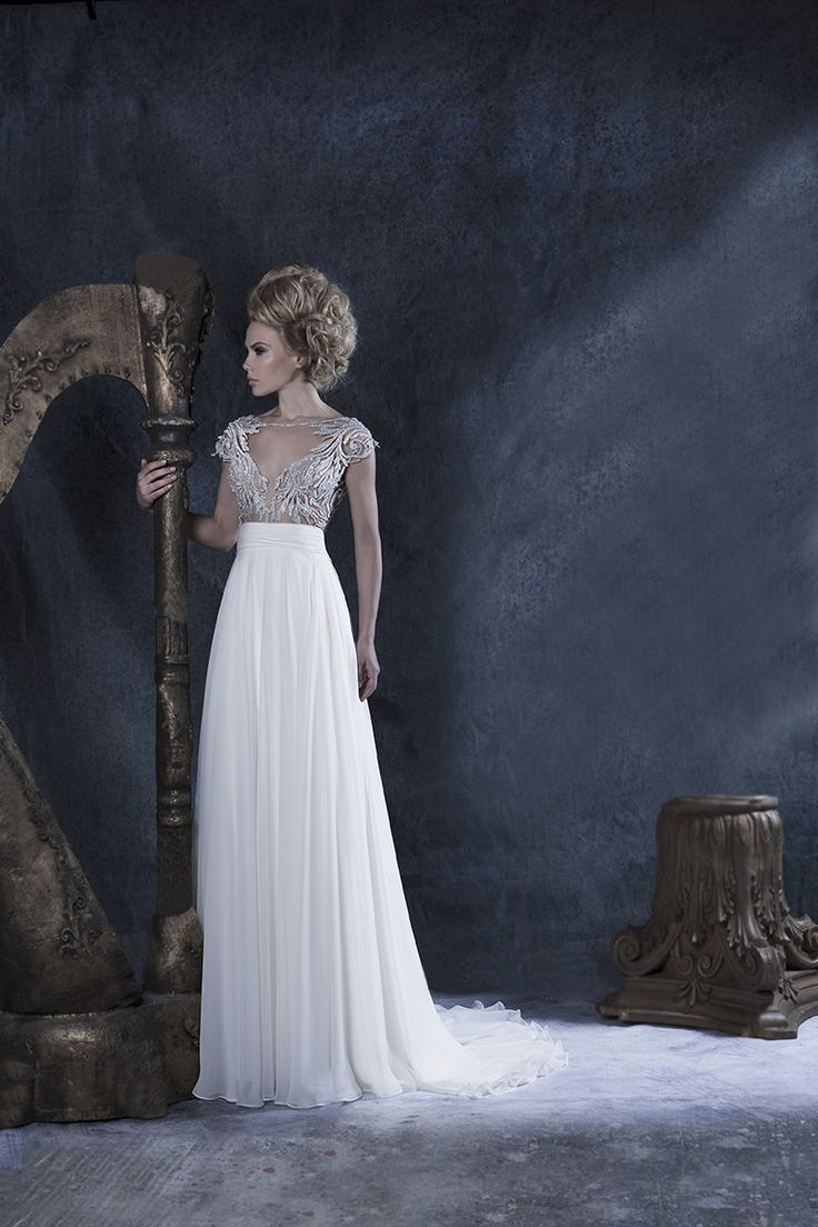 Our //Melissa// #Chiffon #lace #gown #bride
