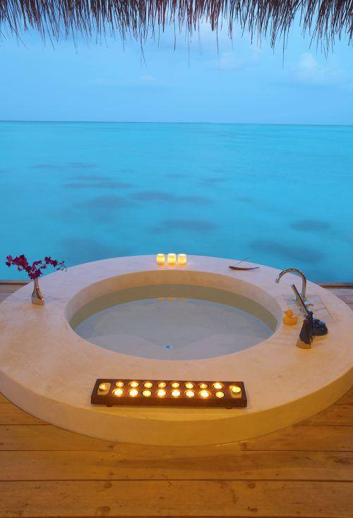 Hot tub Maldives! Ahhh! Dream place