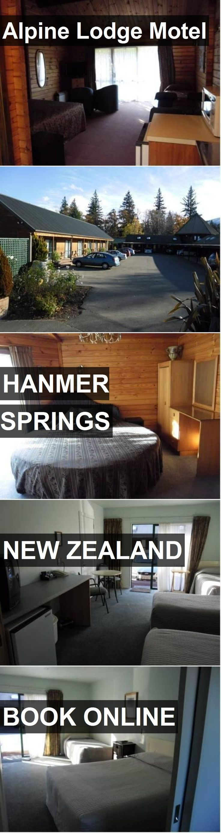 Hotel Alpine Lodge Motel in Hanmer Springs, New Zealand. For more information, photos, reviews and best prices please follow the link. #NewZealand #HanmerSprings #AlpineLodgeMotel #hotel #travel #vacation