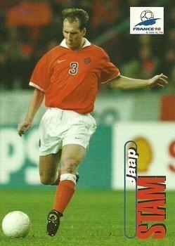 Jaap Stam of Holland. 1998 World Cup Finals card.