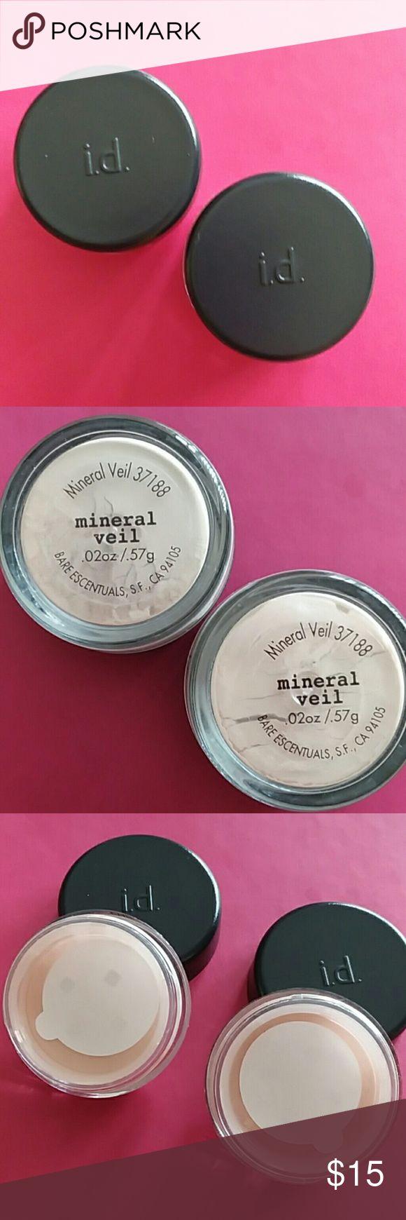 Bare Escentuals Mineral Veil - 2 small, .02oz. ea. Two new, never used Bare Escentuals Mineral Veils. Each is .02 oz. Bare Escentuals Makeup