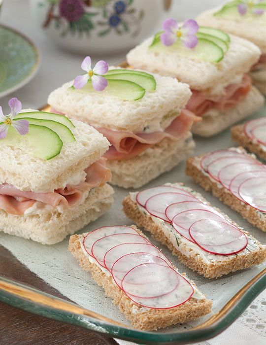 These Radish-Dill Canapés are a perfect addition to your spring tea menus.