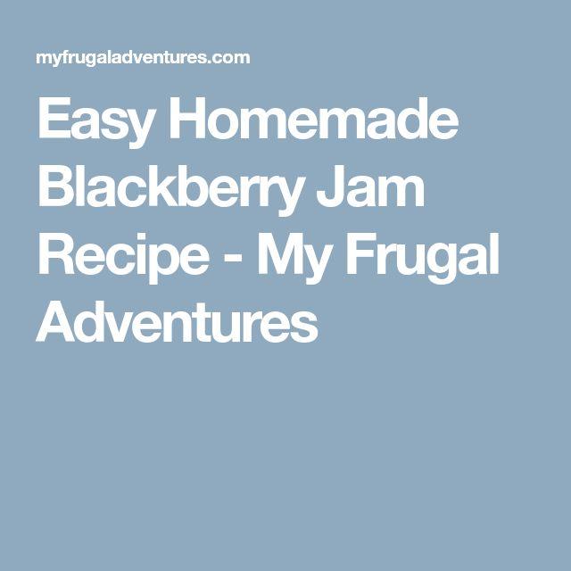 Easy Homemade Blackberry Jam Recipe - My Frugal Adventures