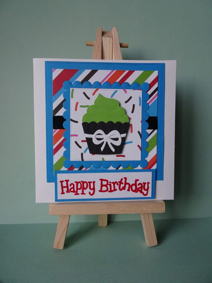 This birthday cupcake card is my entryinto the anything goes challenges…