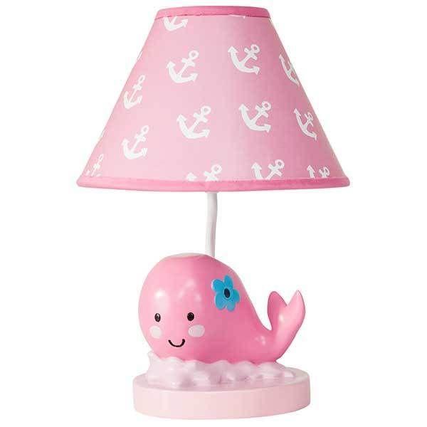 Splish Splash Pink Nautical Baby Girls Nursery Lighting Lamp Base & Shade #LambsIvy                                                                                                                                                                                 More