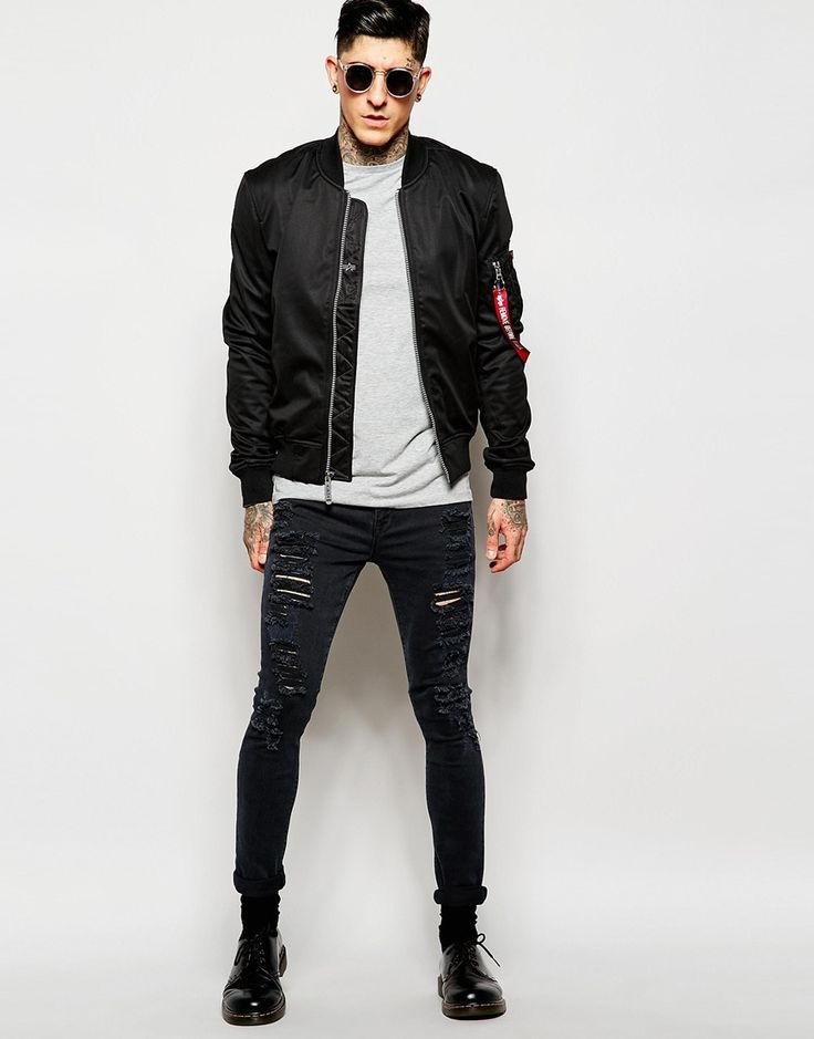 Image 4 ofAlpha Industries Bomber Jacket in Shell Fabric