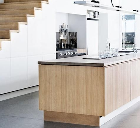 #Kitchen #Stairs  When space is tight, a clever strategy is to annex the area under a staircase. Here's a roundup of kitchens that maximize below-stairs space.