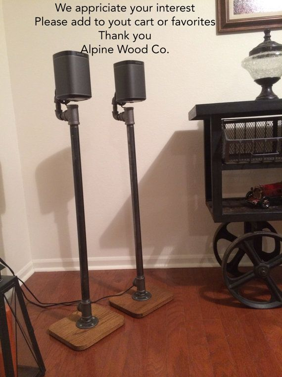 Industrial Pipe Hardwood Surround Sound Speaker by AlpineWoodCo