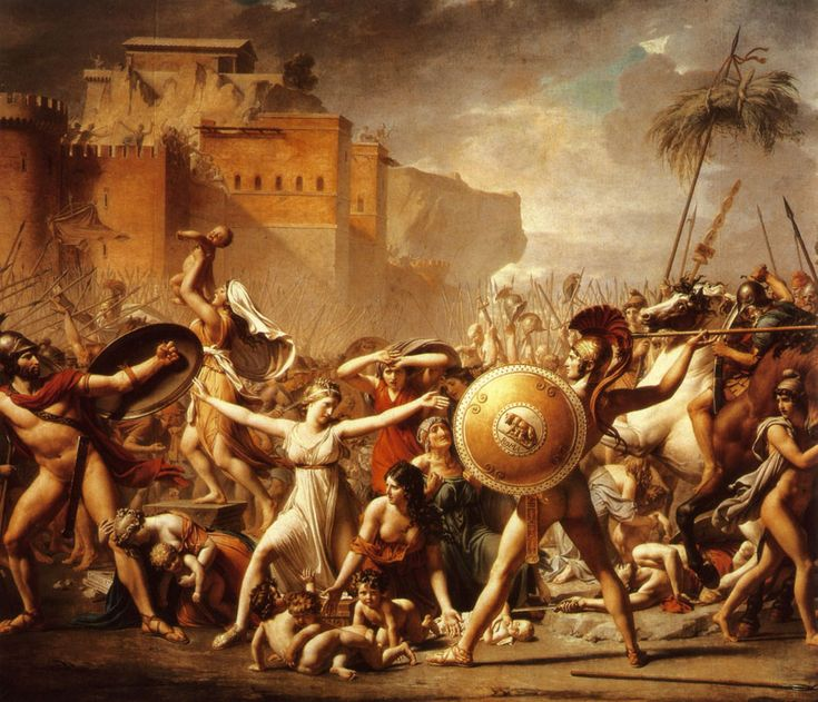 J-L David - L'enlèvement des Sabines 1799