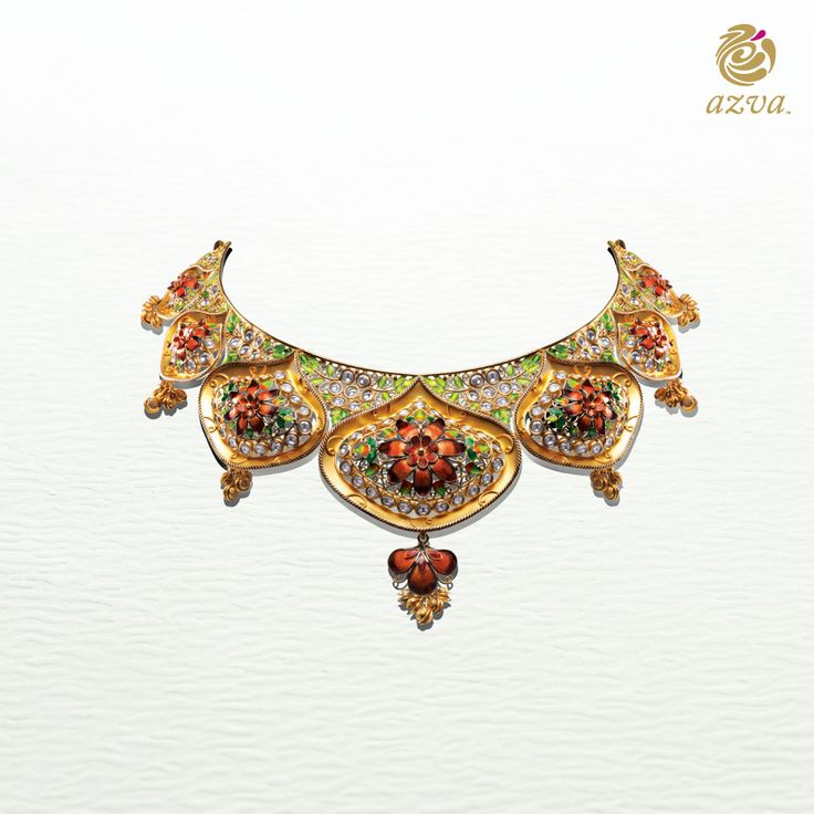 Vibrant enamel flowers and intricate filigree come together to create this…