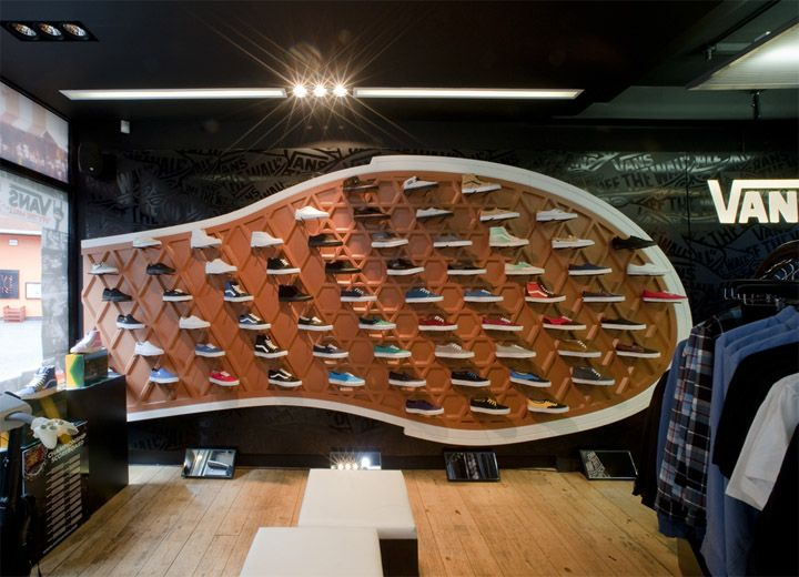 Retail Design | Footware | Store Design | Shop Interiors | Vans Store at Covent Garden, London #wall