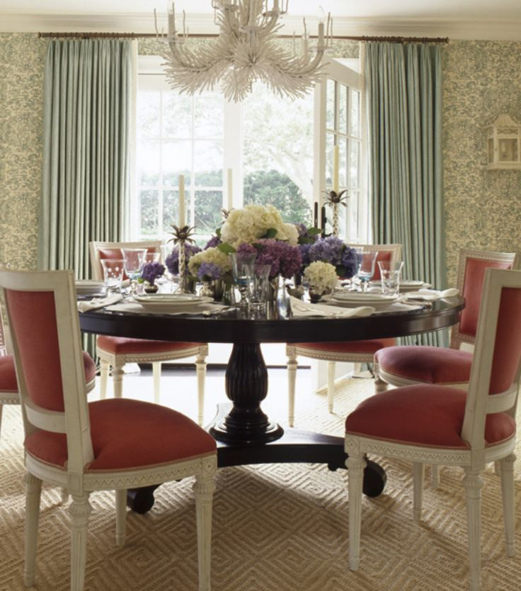 ashley whittaker dining room coral and aqua round