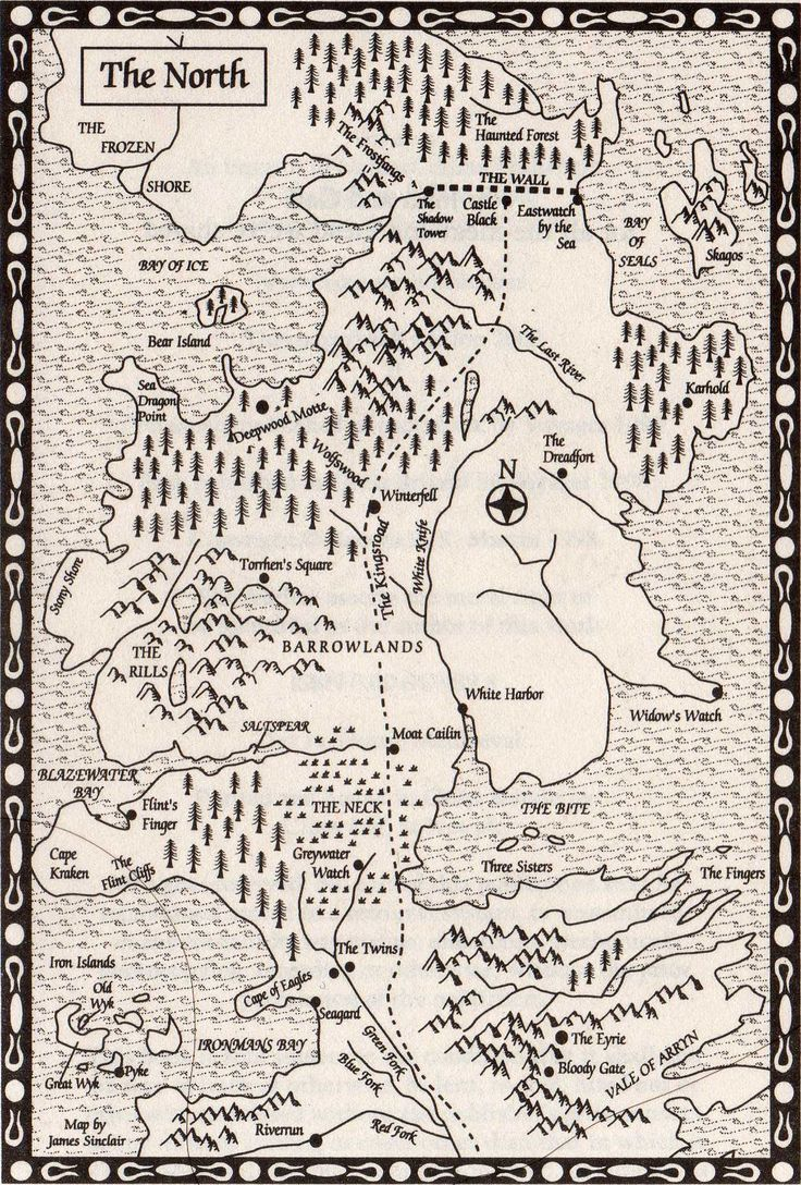 Westeros - Maps - The North