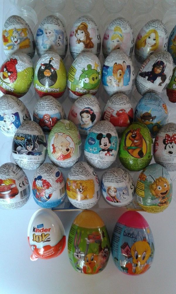 10 Chocolate Surprise Eggs MIX YOUR SELECTION from 17 kinds Zaini Kinder Joy