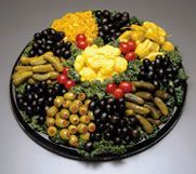 """Relish This"" Platter ~ Mounds of Sweet Gherkins, Dill Spears, Green and Black Olives, Spicy Pepperoncini and Pickled Cauliflower"