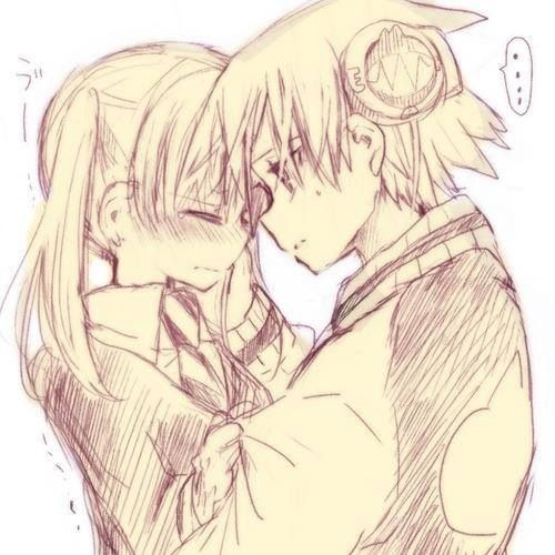 Soul Eater, Maka and Soul- Totally adorable. This is how it should be.