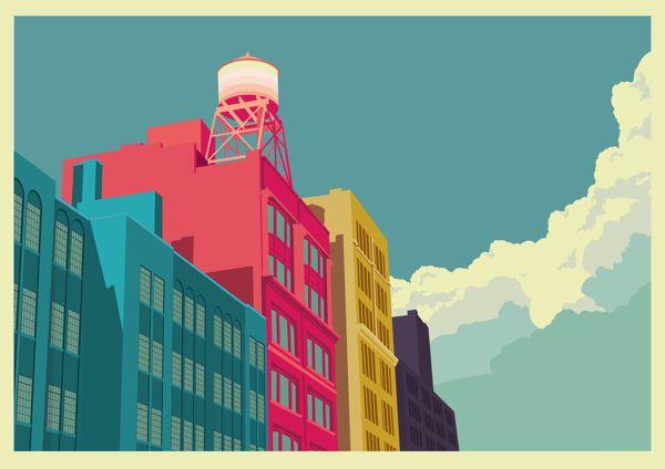 AphroChic: New York Skyline Illustrations By Remko Heemskerk