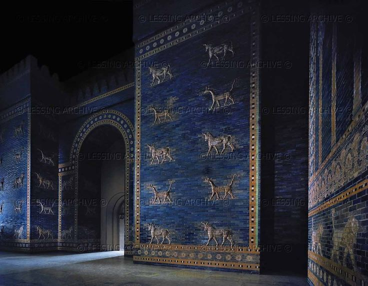 alscientist:  lion-of-babylon:  The Ishtar Gate, main gate of Babylon built during the reign of Nebuchadnezzar II (605-562 BCE). Enamelled tiles, mythical animals, lions, and gods embellish the gate which was dedicated to goddess Ishtar of Babylon, Mesopotamia (Iraq). now in Berlin  it's in berlin….one of the most iraqi artifacts from babylon, and it's in berlin. I rest of case.