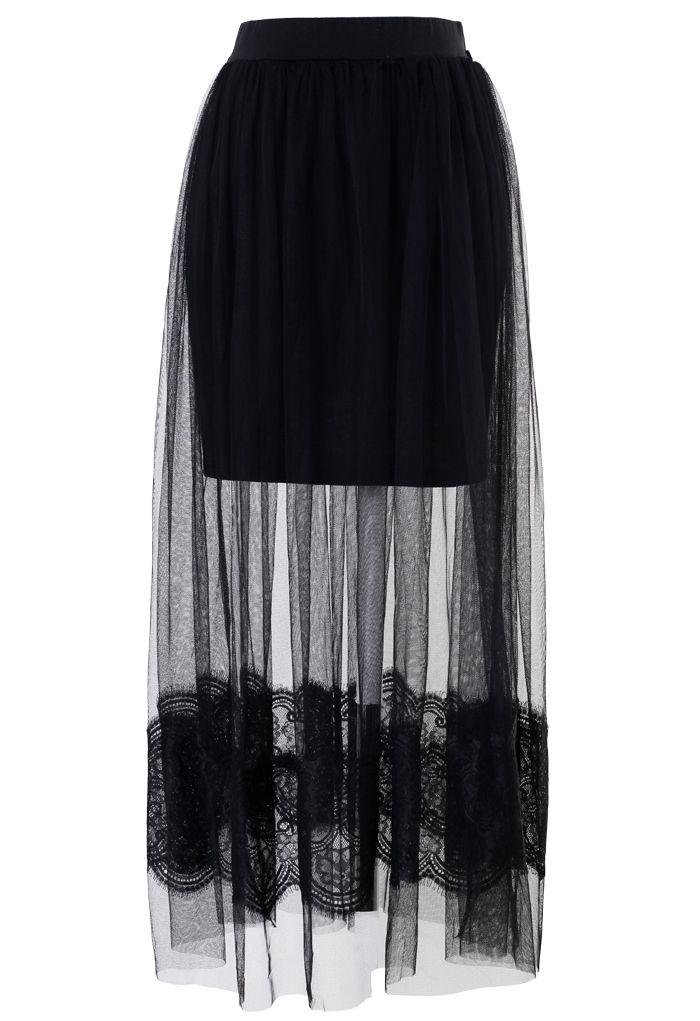 Black Mesh Lace Maxi                                                                                                                                                                                 More