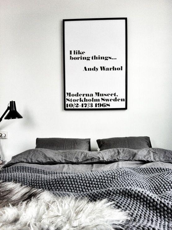 I like boring things... Andy Warhol Poster