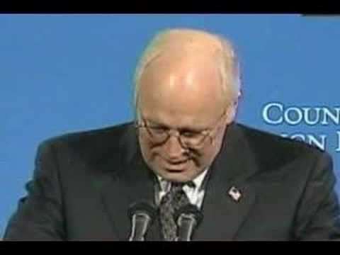 Cheney on CFR, proud member and Director of the Council on Foreign Relations, though he never mentions that to voters.