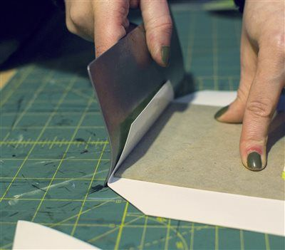 Folding corners of your binding like the pros