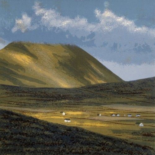 Aidan Flanagan: Slievemor, screenprint,  €300