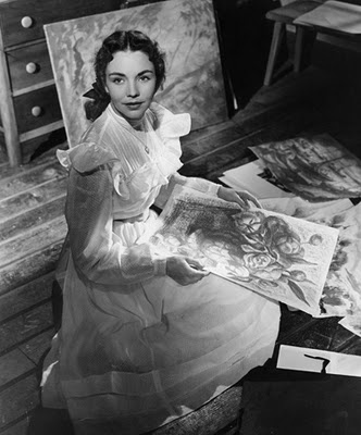 Portrait of Jennie starring Jennifer Jones - I LOVED this book...the first book I remember ever reading...then I saw the movie and loved it just as much!!!