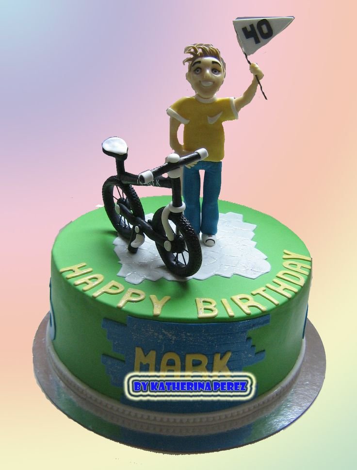 Road Bike Cake Decoration : 33 best images about bicycle cakes on Pinterest Bike ...
