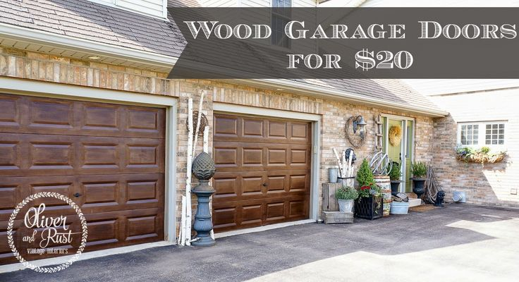 Oliver and rust minwax gelstain darkwalnut garage for How to stain a garage door