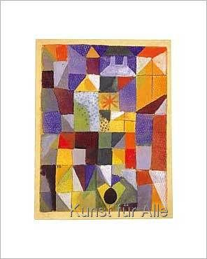 Paul Klee - Städtische Komposition mit den gelben Fenstern