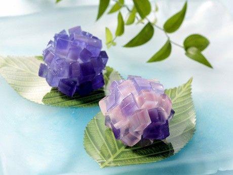 """Japanese Sweets, Fujisawa """"hydrangea"""""""