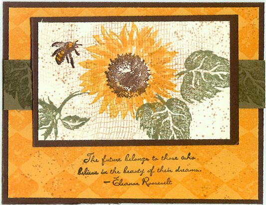 Sunflowers by vkillmore - Cards and Paper Crafts at Splitcoaststampers