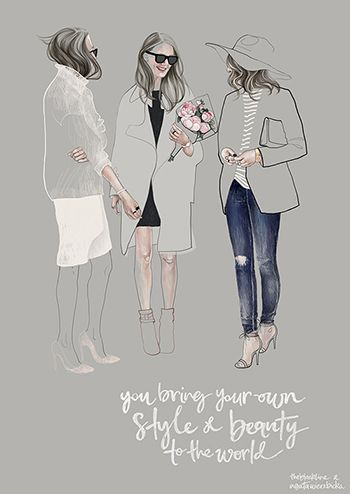 Fashion illustration - street style sketch // Agata Wierzbicka
