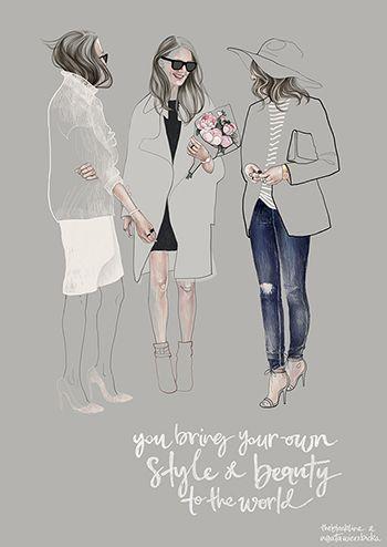 Fashion illustration - street style sketch // Agata Wierzbicka