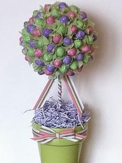 Candy topiary #diy :) so cute!