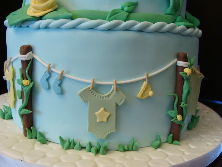 baby shower cake clothesline theme - Google Search