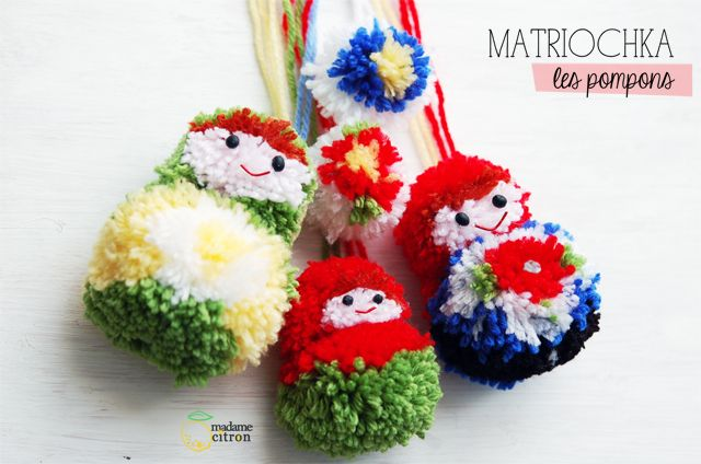 DIY: les pompons matriochka - Madame Citron