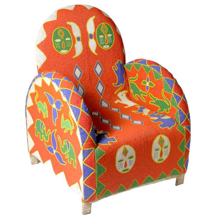 Cadeiras em miçangas
