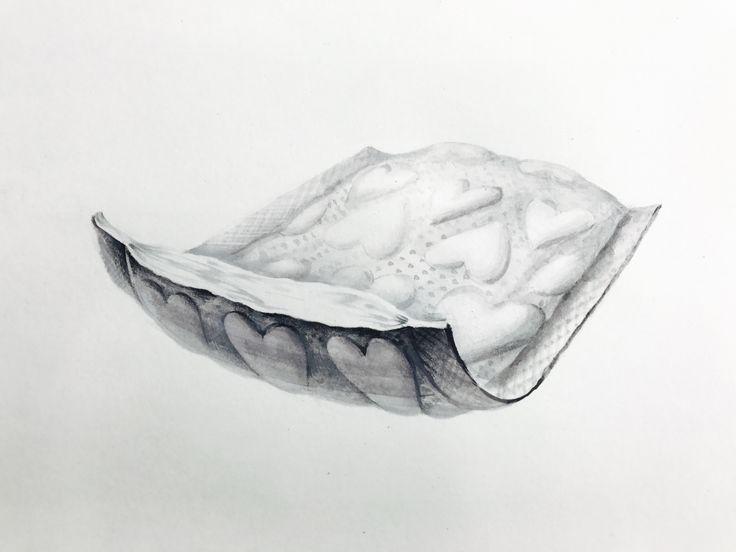 기초디자인 화장솜 개체묘사