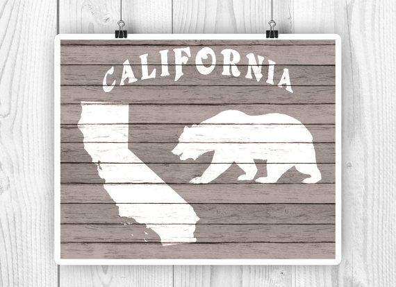 California Art California State map CA State print by PrintCorner