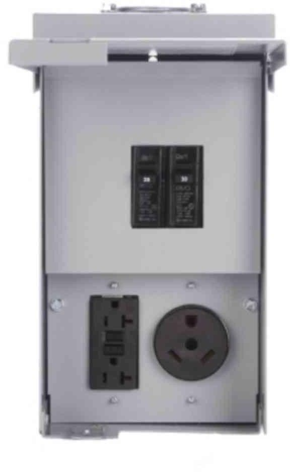 20 30 Amp 2 Spc 120 240 Volt Unmetered Rv Motor Home Outlet Box Tt 30r 5 20r2gfi Outlet Motorhome Rv