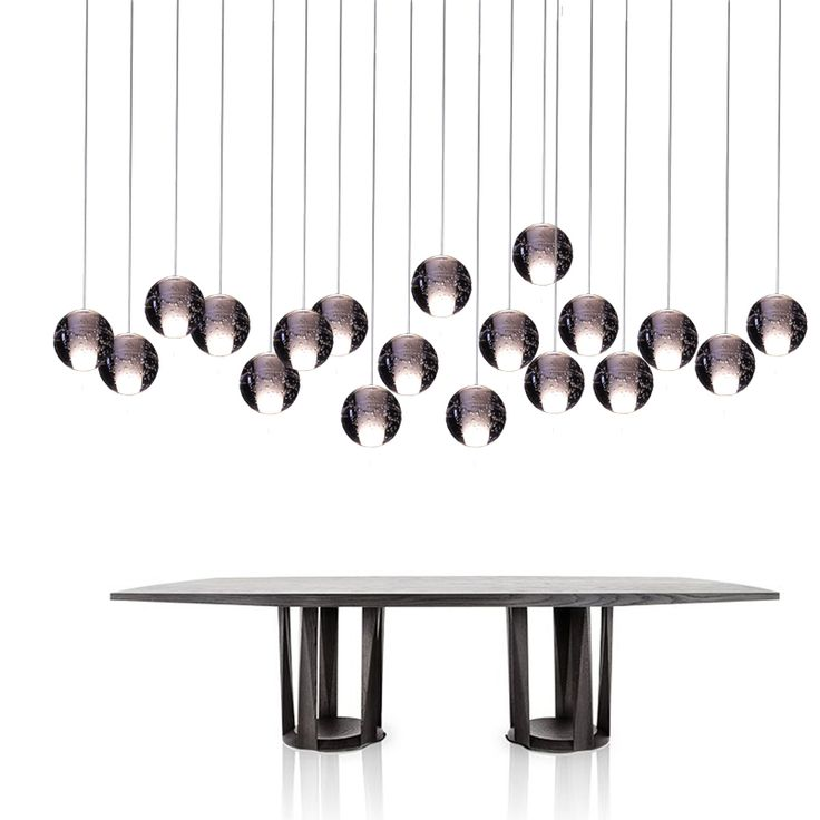 Pendant Lights with Crystal Globes, DC12V G4 LED bulbs included, it's customized for home, Dinning, Stairs pendants.